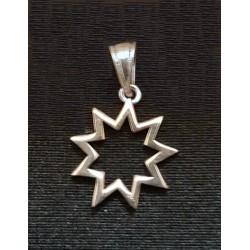Pendentif argent petit modèle étoile 9 branches