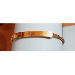 Bracelet avec plaque plaqué or signe