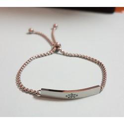 Bracelet avec plaque plaquée argent signe