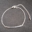 Bracelet avec plaque plaquée argent étoile 9 branches