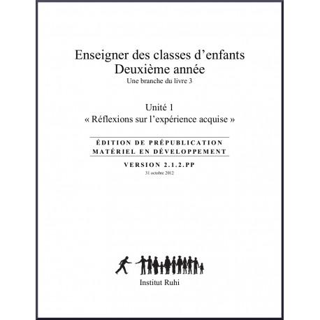 Ruhi - Livre 3 - Deuxième année - Enseigner des classes d'enfants