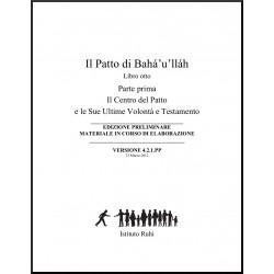 Ruhi - Livre 8 - Unité 1 - en italien - L'alliance de Bahá'u'lláh - le Centre de l'alliance et son Testament