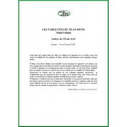 Livret école d'été : atelier étude de l'écrit de 'Abdu'l-Bahá : 'Les tablettes du plan divin'