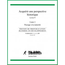 Ruhi - Livre 9 - Unité 2 - Acquérir une perspective historique - Passage à la maturité