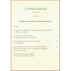La pensée bahá'ie n°157/158 : index de Quelles valeurs pour le monde de demain ?