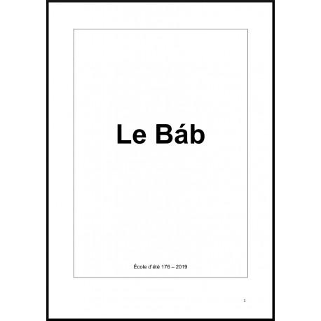 Le Báb : Atelier école d'été 176 - 2019