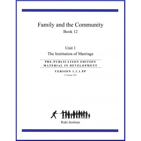 Ruhi - Livre 12 - Family and the Community