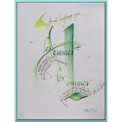 Calligraphie - C7 - 'Aussi longtemps que les femmes ...'