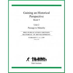 Livre 9 - Unité 2 - En anglais - Passage à la maturité