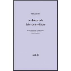 'Abdu'l-Bahá Leçons de Saint Jean d'Acre