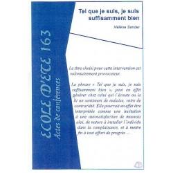 Sander Hélène Tel que je suis, je suis suffisamment bien