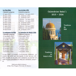 Calendrier Bahá'i 2015 - 2024