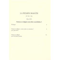 La pensée bahá'ie n°155/156 : Science et religion sont-elles conciliables ?