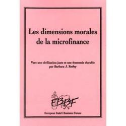 RODEY Barbare J. Dimensions morales de la microfinance