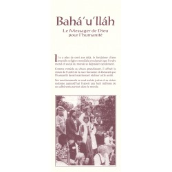 Dépliant Bahá'u'lláh, le messager de Dieu pour l'humanité