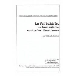 HATCHER William La foi bahá'íe, un humanisme contre les fanatismes