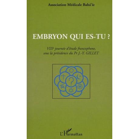Divers Embryon qui es-tu ? 8e journée d'études francophone 1995