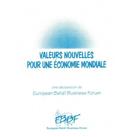 Divers Valeurs nouvelles pour une économie mondiale