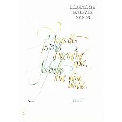 Calligraphie 'Vous êtes les fruits ...' - C19