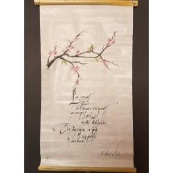 Calligraphie: 'La mort tend à ...'